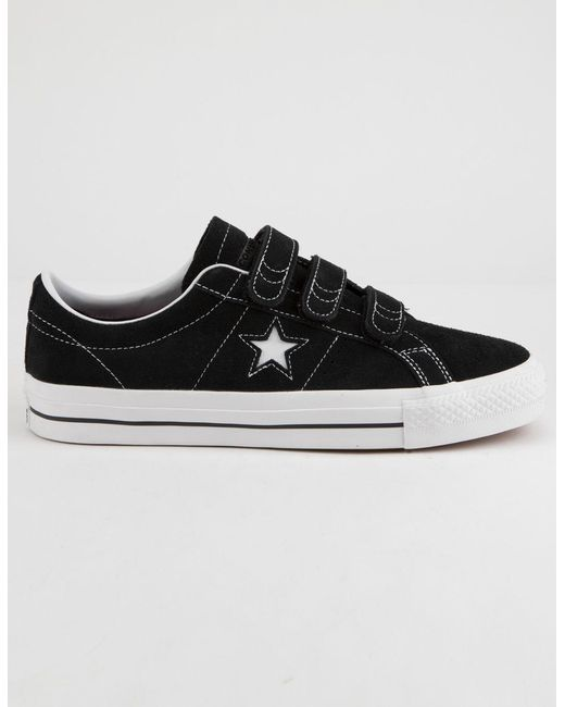 86a7b420c7be78 Lyst - Converse One Star Pro 3v Ox Black   White Shoes in Black for Men