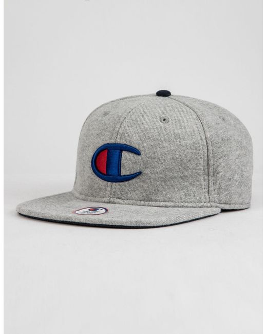 Champion - Reverse Weave Big C Gray Mens Snapback Hat for Men - Lyst ... 8c5a4ec3ee9