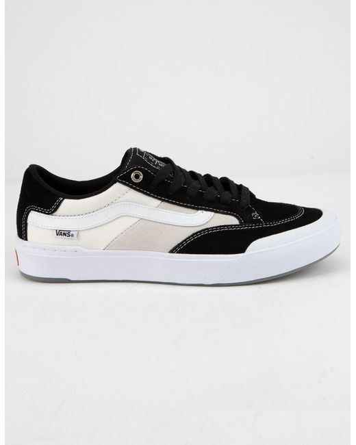 78d6c84e0b Lyst - Vans Berle Pro Black   White Mens Shoes in Black for Men