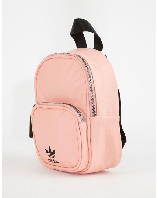 eb75067b76ce Lyst - adidas Originals Faux Leather Pink Mini Backpack in Pink