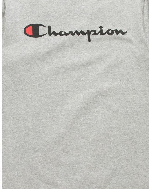 fa5e0e1ebb10 ... Champion - Gray Script Logo Grey Mens T-shirt for Men - Lyst