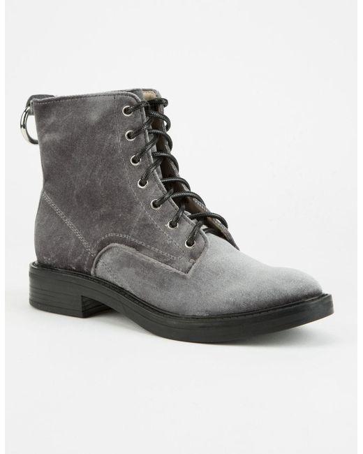 Dolce Vita - Black Bardot Womens Combat Boots - Lyst