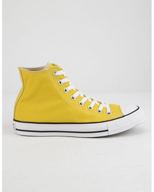 d91f0128f840 Converse - Multicolor Chuck Taylor All Star Bold Citron High Top Womens  Shoes - Lyst ...