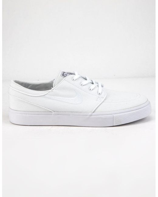 new style 60123 b170d Nike - Sb Zoom Janoski Canvas Rm White Mens Shoes for Men - Lyst ...