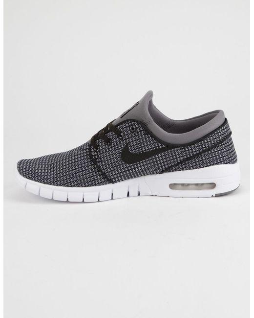 ... Nike - Gray Stefan Janoski Max Gunsmoke White & Black Mens Shoes for  Men ...