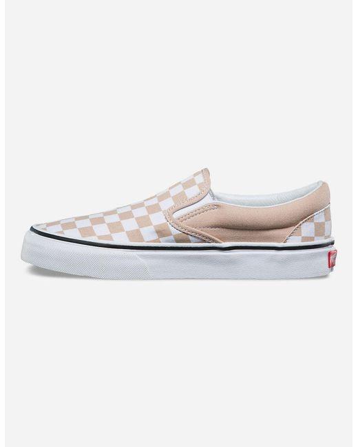 3046e13bcdba2e ... Vans - Checkerboard Frappe   True White Classic Slip-on Womens Shoes ...