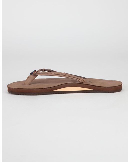 29d3c2191699 ... Rainbow Sandals - Brown Flirty Braidy Womens Sandals - Lyst ...