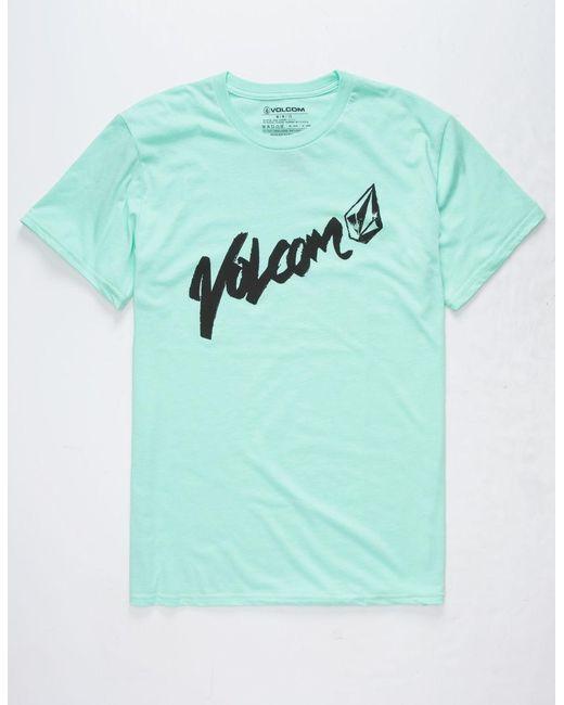 T Mens For Shirt Lyst Green In Volcom Men Triheckya g1qtT