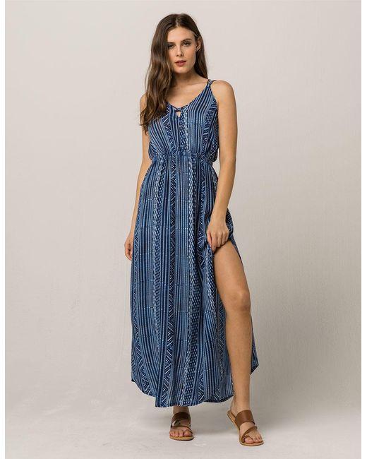 Rip Curl - Blue Tides Maxi Dress - Lyst