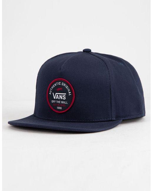 Vans - Blue Svd Originals Mens Snapback Hat for Men - Lyst ... 85f782109