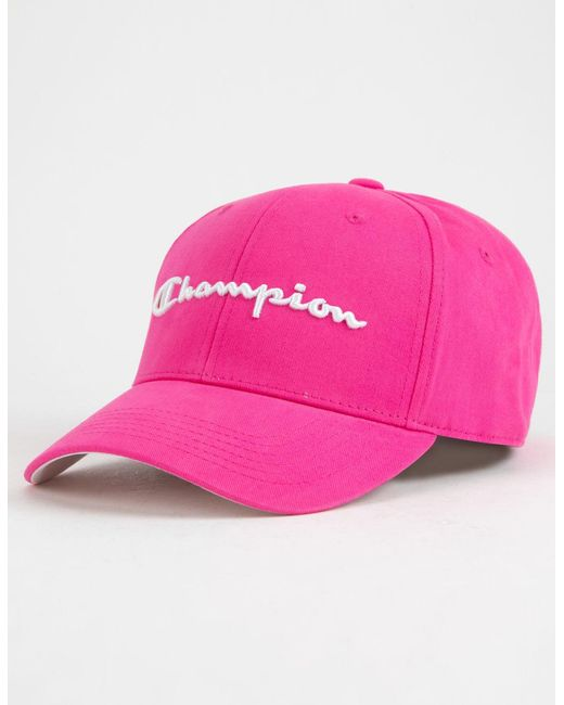 255782eefbe usa champion classic twill adjustable cap mens 888a3 7dc5e  discount  champion classic hot pink mens dad hat for men lyst e4b86 6cf23