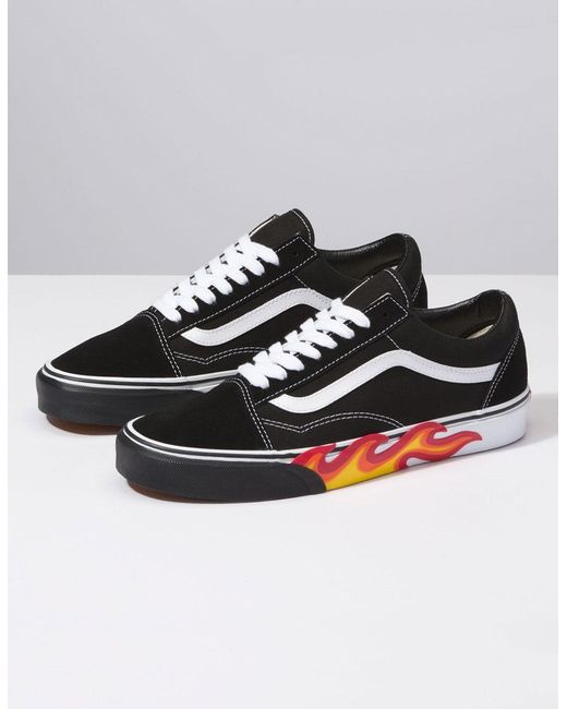 3e39faef9b9 ... Vans - Black Flame Cut Out Old Skool Shoes for Men - Lyst ...
