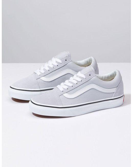 7f626b29f Vans Old Skool Gray Dawn & True White Womens Shoes in White - Lyst