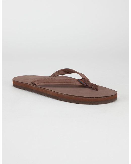 c754c103b91f4 Rainbow Sandals - Brown Narrow Strap Womens Sandals - Lyst ...