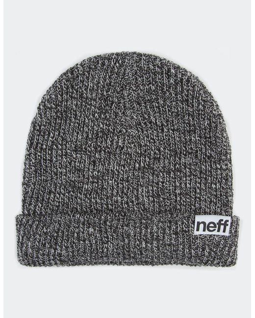 Neff - Gray Heather Fold Beanie for Men - Lyst