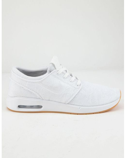 newest 7e354 2b932 Nike - Air Max Stefan Janoski 2 White   White-gum Yellow Shoes for Men ...