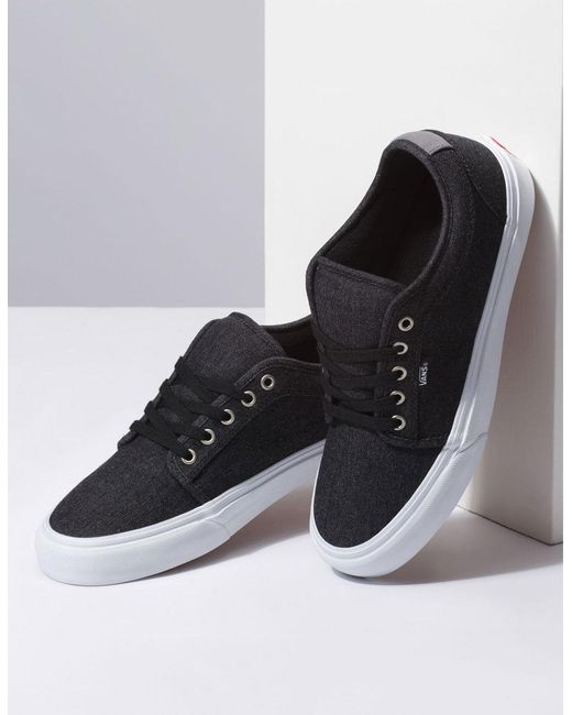 0fe67a07b4 Lyst - Vans Denim Chukka Low Black   Pewter Shoes in Black for Men