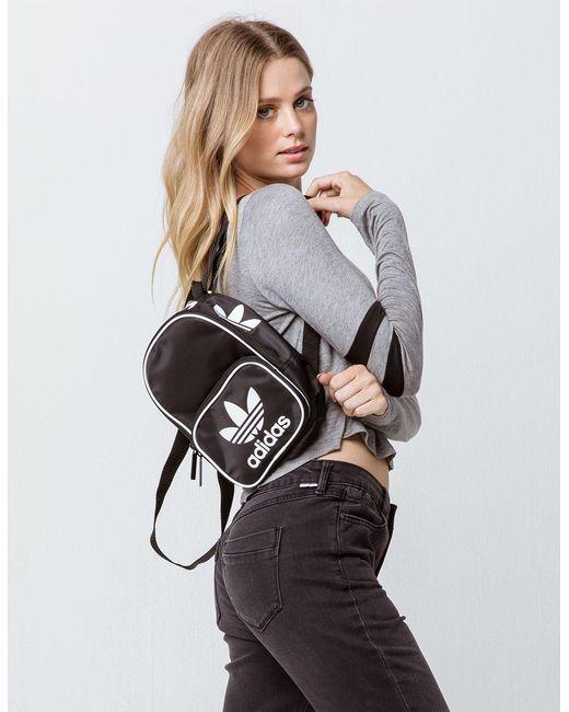 7b8c50849 ... Adidas - Originals Santiago Black Mini Backpack - Lyst ...