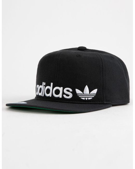 3b729186bc6 Adidas - Originals Relaxed Banner Black Mens Strapback Hat for Men - Lyst  ...