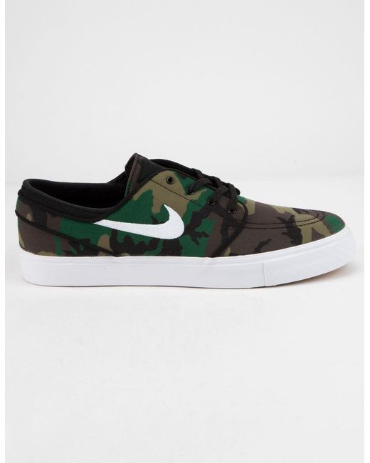 new arrival a958b 314c5 Nike - Green Zoom Stefan Janoski Canvas Camo Mens Shoes for Men - Lyst ...