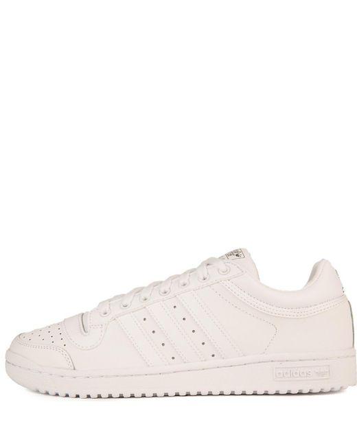 Lyst Scarpe Adidas Occasionale Top Ten In Bianco Per Gli Uomini.
