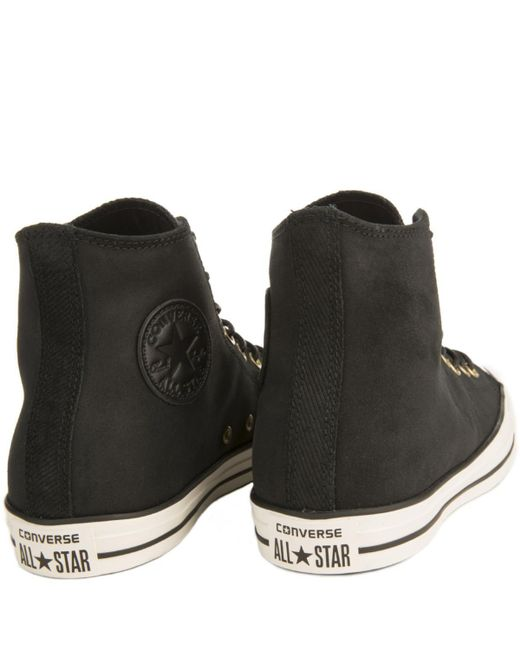 0aa7b92fda9 ... Converse - Chuck Taylor All Star Crafted Black Suede High Tops for Men  - Lyst ...
