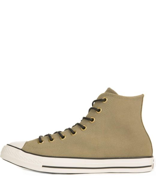 d41d66d682e7 Converse - Natural Chuck Taylor All Star Crafted Khaki Suede High Tops for  Men - Lyst ...