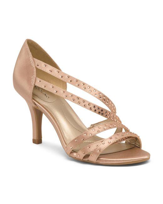 c8c75b8a7b550 Tj Maxx Asymmetrical Strappy Dress Sandals in Natural - Lyst