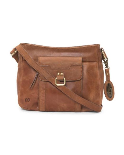 Tj Maxx | Brown Eudora Leather Crossbody | Lyst