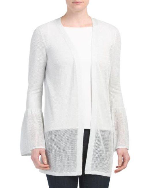 Tj Maxx - White Bell Sleeve Cardigan - Lyst