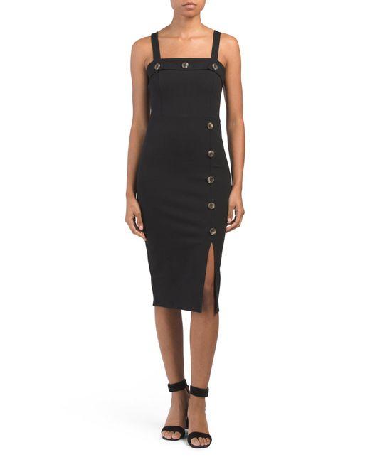 9319b88d Tj Maxx Juniors Ponte Midi Dress in Black - Lyst