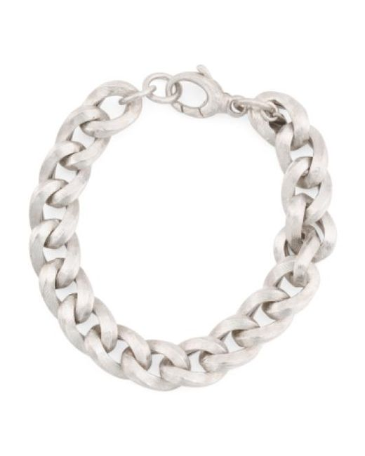 Tj Maxx - Metallic Men's Made In Italy Sterling Silver Curb Link Bracelet for Men - Lyst