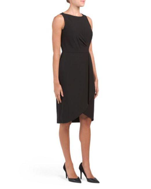 fa1a8aa0 Lyst - Tj Maxx Crepe Sheath Dress in Black