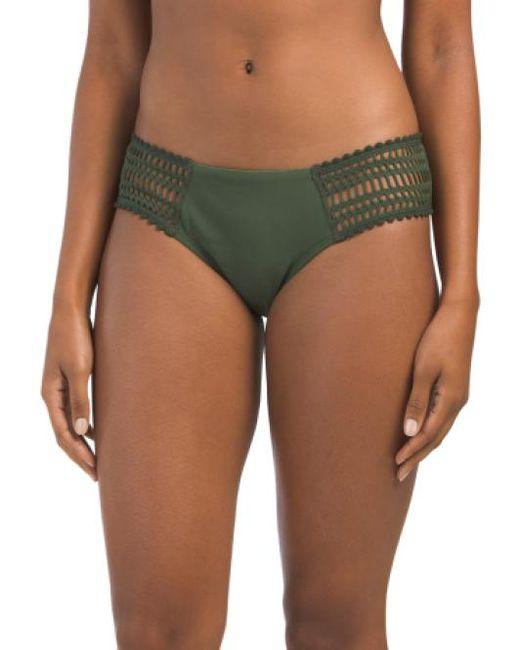 Tj Maxx - Green Sophia Crochet Side Tab Swim Bottom - Lyst