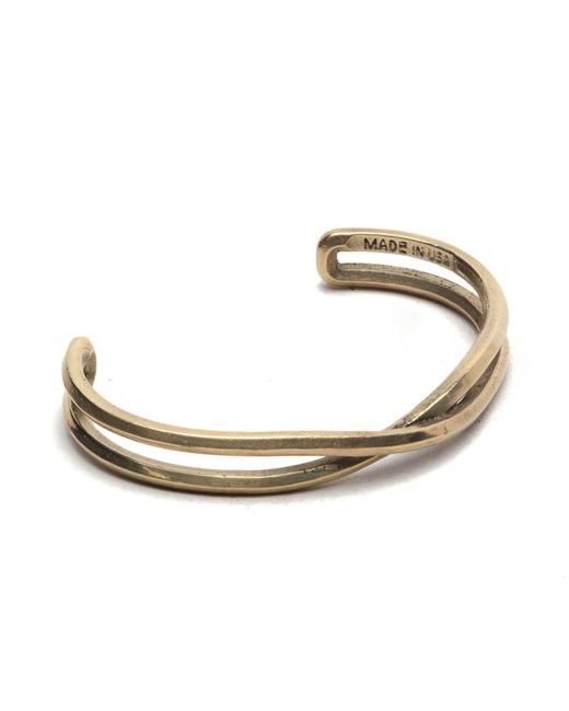 Maxx + Unicorn | Metallic Crossover Cuff In Brass for Men | Lyst