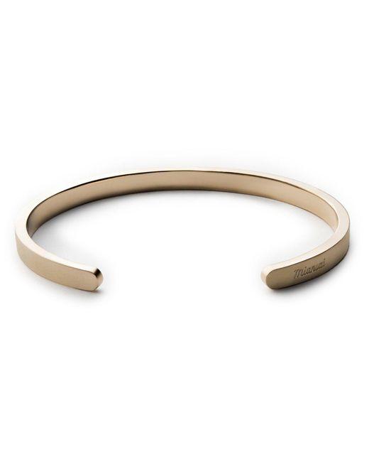 Miansai | Metallic Singular Cuff In Brass | Lyst