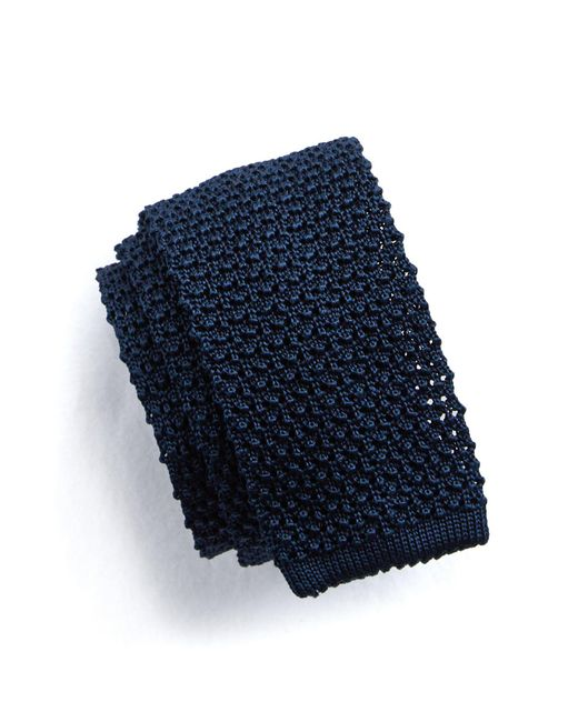 Todd Snyder - Blue Classic Knit Silk Tie In Navy for Men - Lyst