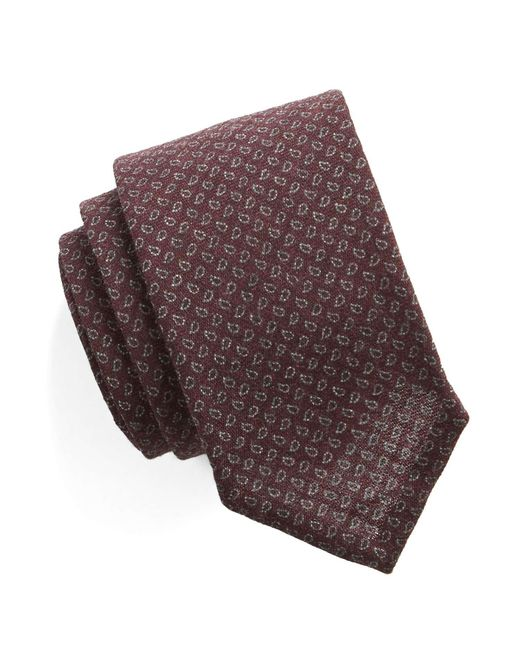 Todd Snyder | Purple Mini Paisley Silk/wool Tie for Men | Lyst