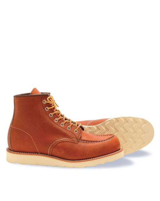 Red Wing - Red Wing Heritage Moc Toe Boot In Brown for Men - Lyst