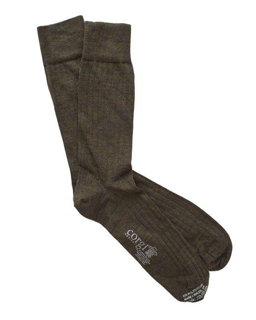 Corgi - Solid Forest Green Dress Socks for Men - Lyst