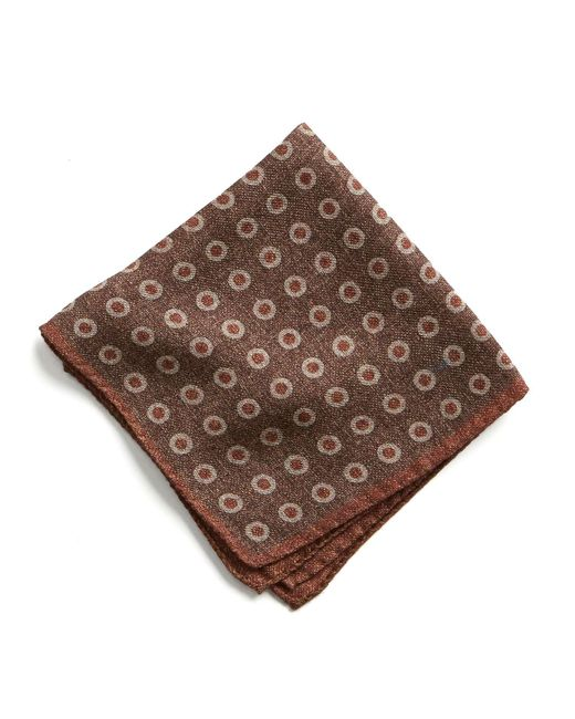Todd Snyder | Italian Wool Pocket Square In Large Brown Circle for Men | Lyst