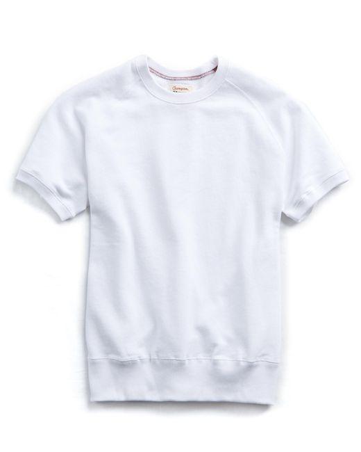 Todd Snyder - Terry Short Sleeve Sweatshirt In White for Men - Lyst