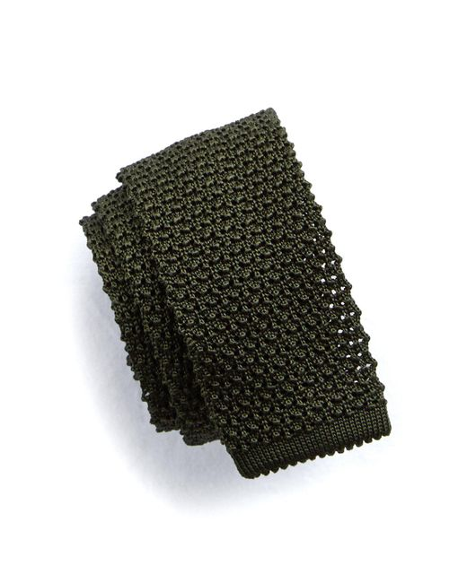 Todd Snyder | Green Classic Knit Silk Tie In Olive for Men | Lyst
