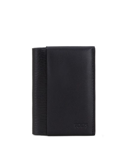 Tod's - Black Cardholder In Leather - Lyst