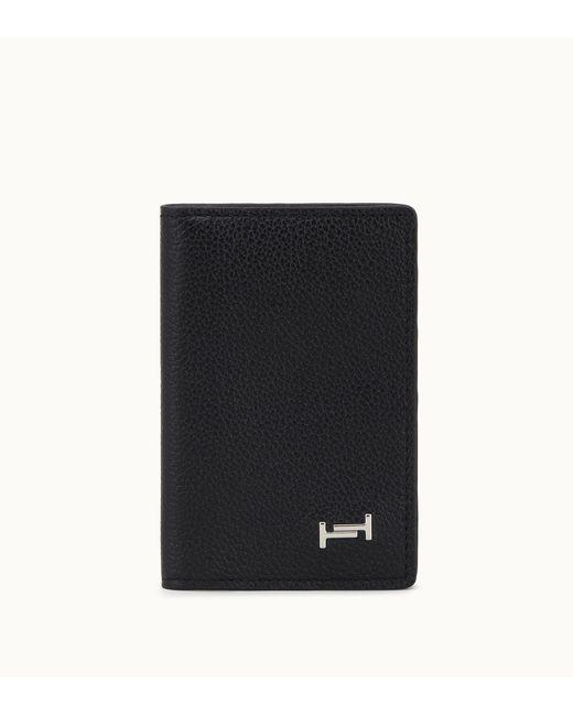 Tod's - Black Vertical Cardholder In Leather for Men - Lyst