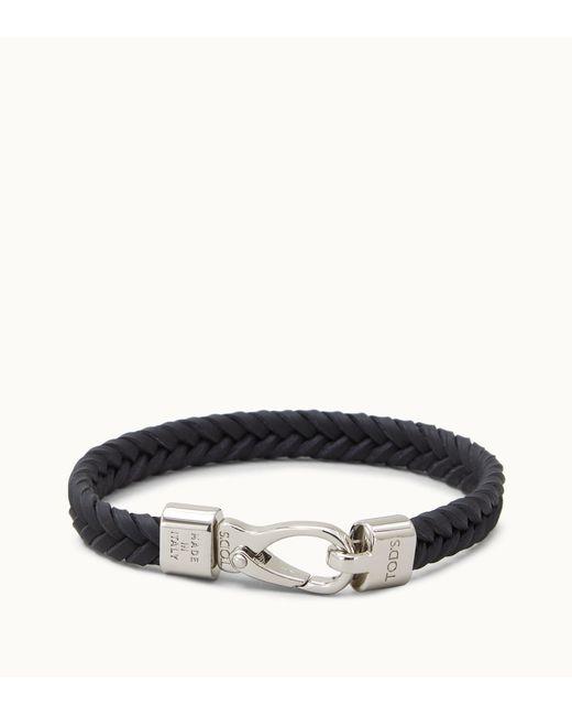Tod's - Black Bracelet In Leather for Men - Lyst