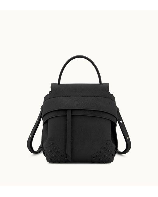 Tod's - Black Mini Wave Backpack In Leather - Lyst