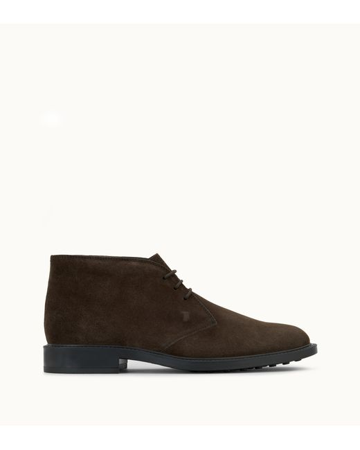 Lyst Tod S Men S Suede Chukka Boots Brown Size 12 Uk 13 Us