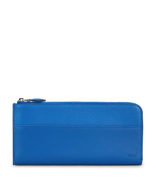 Tod's - Blue Leather Travel Document Holder for Men - Lyst