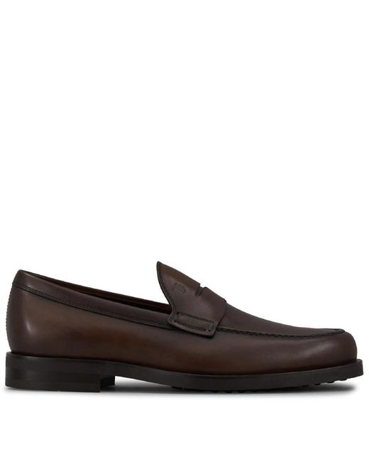 Tod's - Brown Leather Loafers for Men - Lyst